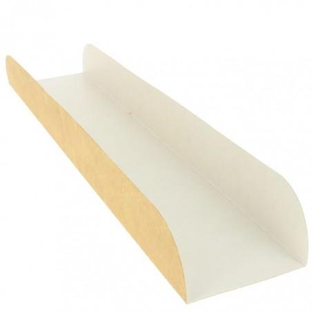 Bandeja Para Bocadillo Kraft 30x6,1x3,2cm (100 Uds)