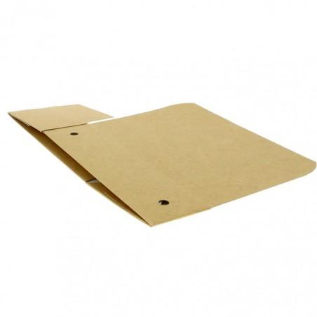Caja Comida para Llevar Grande Kraft 200x100x50mm (25 Uds)