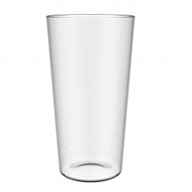Vaso Reutilizable SAN Pinta Cerveza Transparente 586ml (50 Ud)