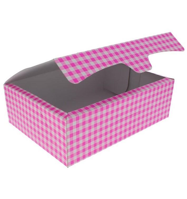 Caja Pasteleria Carton 25,8x18,9x8cm 2Kg Rosa (125 Uds)