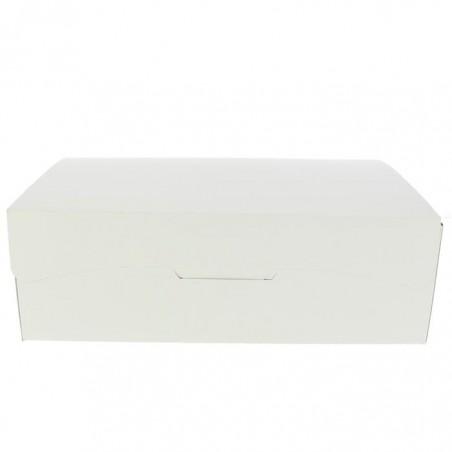 Caja Pasteleria Carton 25,8x18,9x8cm 2Kg Blanca (25 Uds)