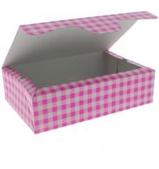 Caja Pasteleria Carton 17,5x11,5x4,7cm 250g Rosa (360 Uds)