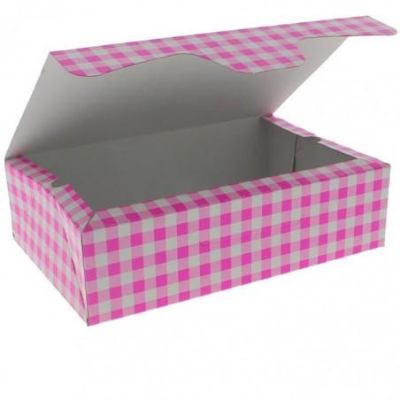 Caja Pasteleria Carton 17,5x11,5x4,7cm 250g Rosa (20 Uds)