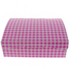Caja Pasteleria Carton 20,4x15,8x6cm 1kg Rosa (200 Uds)