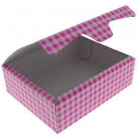 Caja Pasteleria Carton 20,4x15,8x6cm 1kg Rosa (20 Uds)