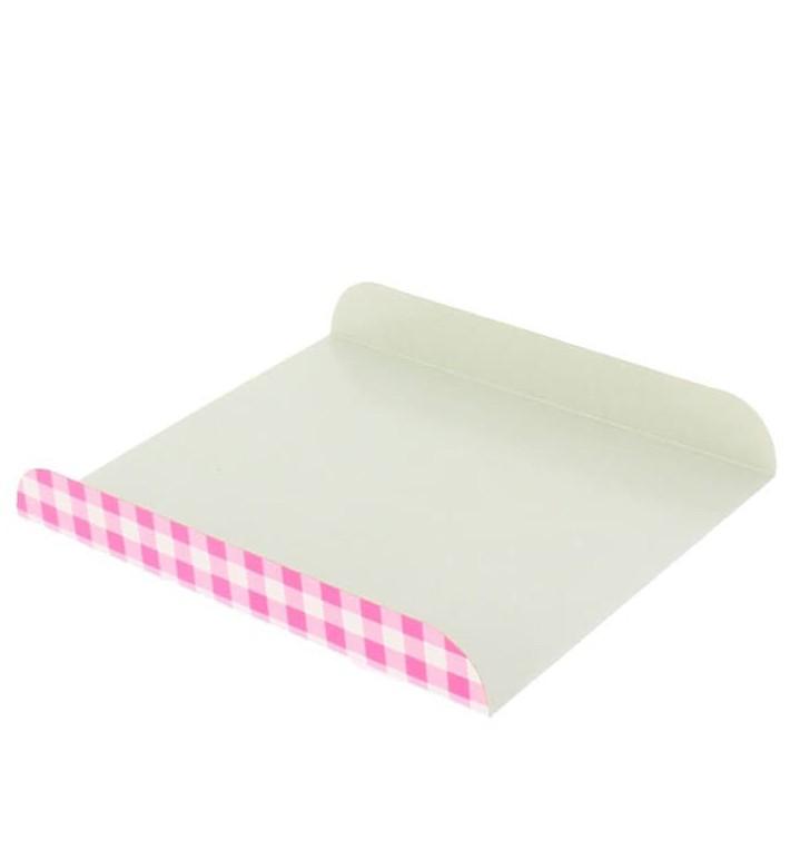Bandeja de Carton Rosa para Gofres 15x13cm (2.000 Uds)