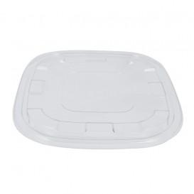 Tapa Plastico PET Transparente para Bol 27x27cm (25 Uds)