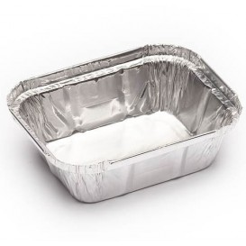 Bandeja Aluminio 250ml 128x100x32mm (2000 Uds)