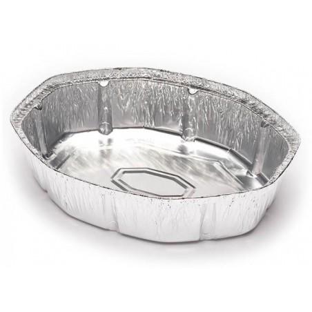Envase de Aluminio Ovalado para Pollos 1900ml (125 Uds)