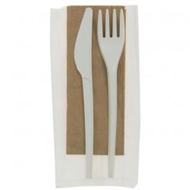 Set Cubiertos Tenedor, Cuchillo y Servilleta CPLA (10 Uds)