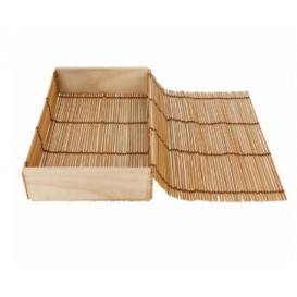 Envase de Bambú para Sushi 23x13x4,5cm (24 Uds)