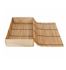 Envase de Bambú para Sushi 23x13x4,5cm (24 Ud)