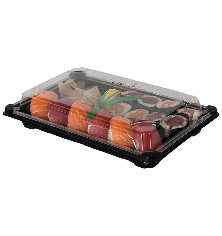 Envase para Sushi PLA Negro 13,0X18,0 cm (100 Uds)
