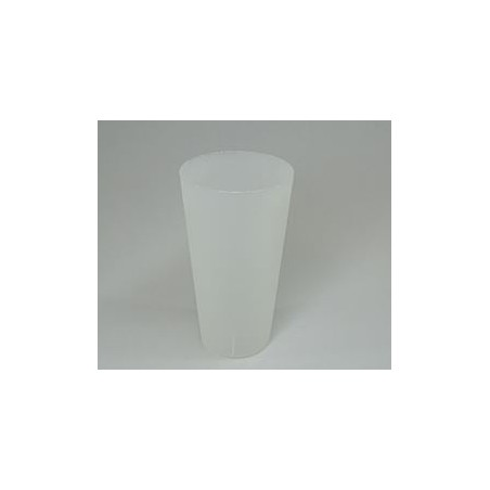 Vaso Reutilizable de Plástico PP Translúcido 400ml (490 Uds)