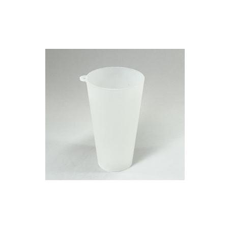 Vaso Reutilizable con Argolla PP Translúcido 400ml (14 Uds)