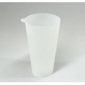 Vaso Reutilizable con Argolla PP Translúcido 400ml (490 Uds)