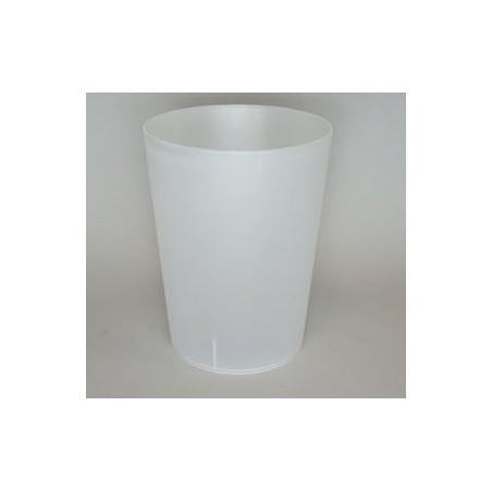 Vaso Reutilizable de Plástico PP Translúcido 900ml (14 Uds)