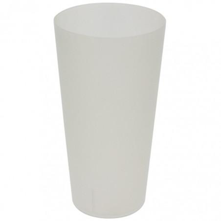 Vaso Reutilizable de Plástico PP Translúcido 400ml (14 Uds)