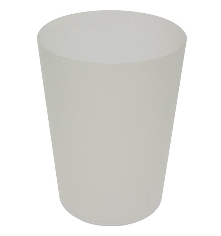 Vaso Reutilizable de Plástico PP Translúcido 900ml (210 Uds)