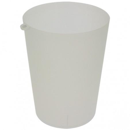Vaso Reutilizable con Argolla PP Translúcido 900ml (210 Uds)