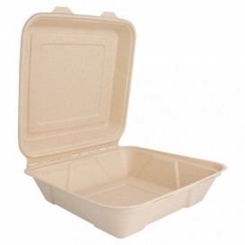 Envase MenuBox Caña Azúcar 225x225x75mm (200 Uds)