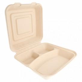 Envase MenuBox Caña Azúcar 3C 250x250x75mm (250 Uds)