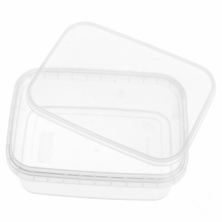 Envase Plástico y Tapa Inviolable 280ml 120x88mm (24 Uds)