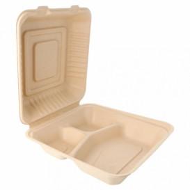 Envase MenuBox Caña Azúcar 3C Natural 20x20x7,5cm (200 Uds)