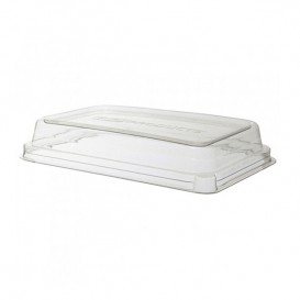 Tapa Compostable PLA Transparente Envase 710 y 940ml (200 Uds)