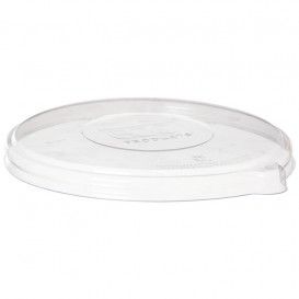 Tapa Compostable PLA Transparente Bol 355 y 470ml (50 Uds)