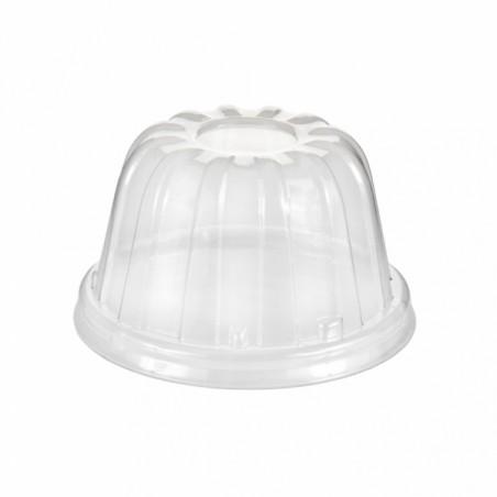 Tapa Alta de Plastico PS Transparente Ø8,9cm (50 Uds)