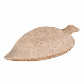 MiniPlato Hoja Caña de Azucar Natural 8x5,5cm (500 Uds)