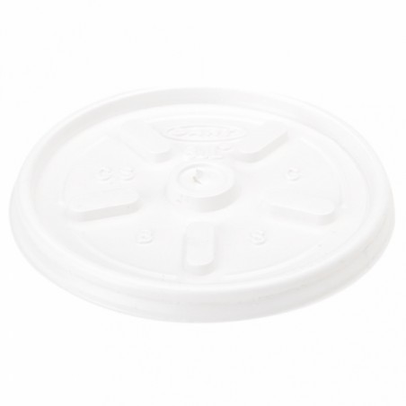 Tapa PS para Vaso Foam EPS 4Oz/120ml Ø6,9cm (100 Uds)