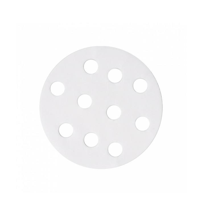 Papel Antigrasa Blanco para Vaporera Ø8 cm (250 Uds)