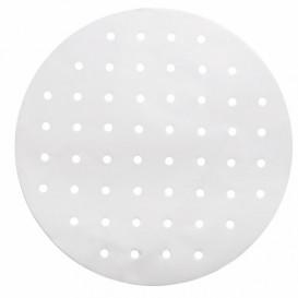 Papel Antigrasa Blanco para Vaporera Ø30 cm (250 Uds)