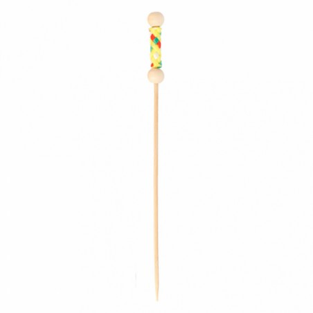 Pinchos de Bambu Decorados Natural 120 mm (10000 Uds)