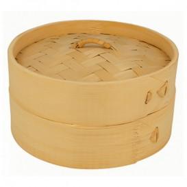 Vaporera de Bambú con Tapa Ø15x8cm (1 Ud)