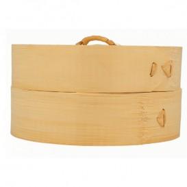Vaporera de Bambú con Tapa Ø15x8cm (100 Uds)