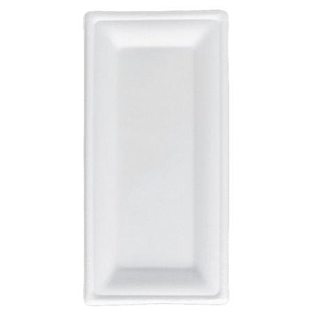 Bandeja Caña de Azucar Bagazo Blanco 25,5x12,7 cm (50 Uds)