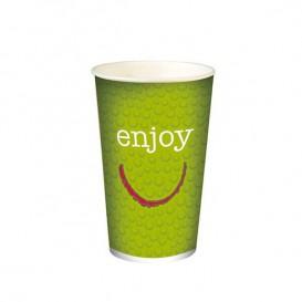 """Vaso de Cartón para Bebidas Frías 32 Oz/1.000 ml """"Enjoy"""" (500 Unidades)"""