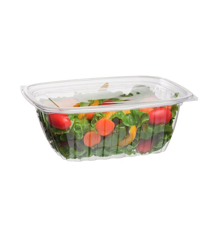 Envase Compostable PLA con Tapa 940ml (50 Uds)
