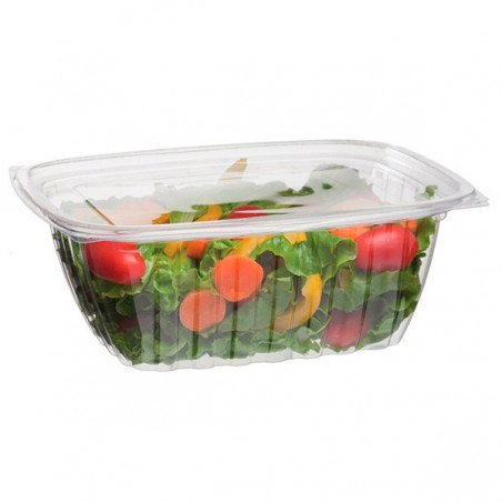 Envase Compostable PLA con Tapa 940ml (200 Uds)
