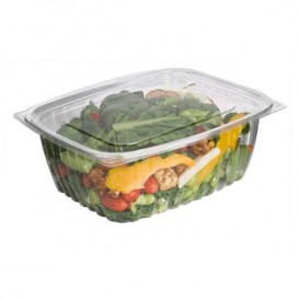 Envase Compostable PLA con Tapa 1890ml (200 Uds)