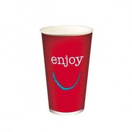 """Vaso de Cartón para Bebidas Frías 16 Oz/500 ml Modelo """"Enjoy"""" (1.000 Unidades)"""