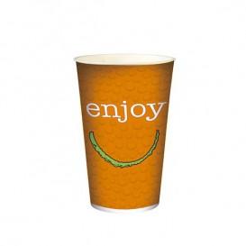 """Vaso de Cartón para Bebidas Frías 22 Oz/ 680 ml Modelo """"Enjoy"""" (1.000 Unidades)"""