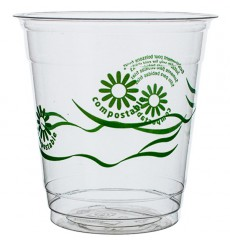 "Vaso PLA ""Green Spirit"" Transparente 250ml (1250 Uds)"