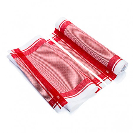 """Rollo Paños """"Roll Drap"""" Vintage Rojo 40x64cm P40cm (10 Uds)"""