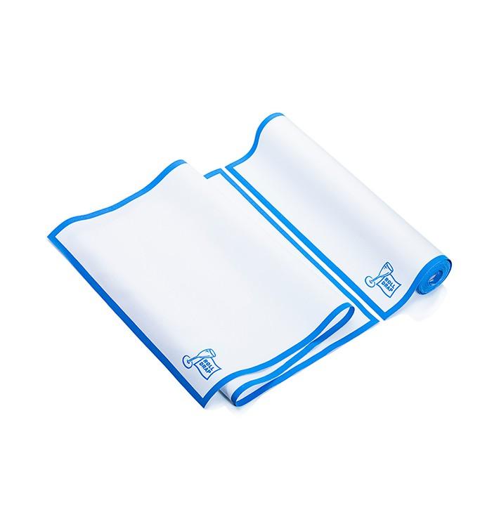 """Paños en Rollo """"Roll Drap"""" Cenefa Azul 40x80cm P80cm (160 Uds)"""