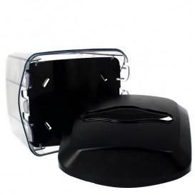 Dispensador Servilletero ABS Negro 15,5x13,5x15,0cm (1 Ud)