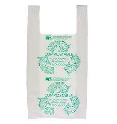 Bolsa Plastico Camiseta 100% Biodegradable 40x50cm (1500 Uds)